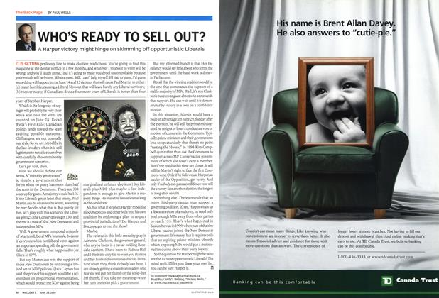 Article Preview: WHO'S READY TO SELL OUT?, June 2004 | Maclean's