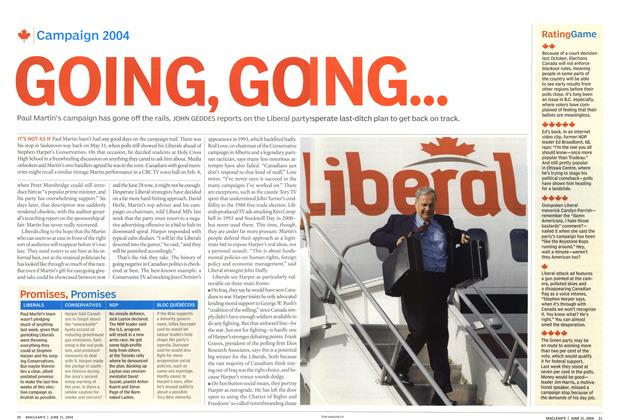 Article Preview: GOING, GOING, June 2004 | Maclean's