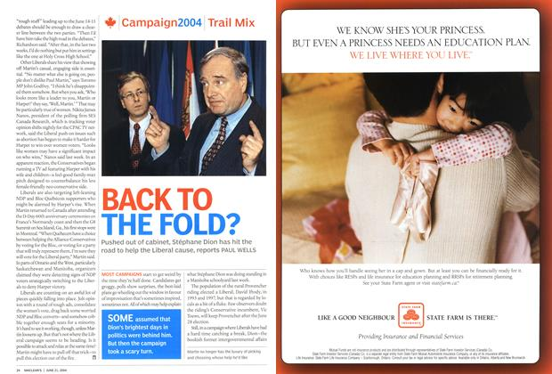 Article Preview: BACK TO THE FOLD?, June 2004 | Maclean's