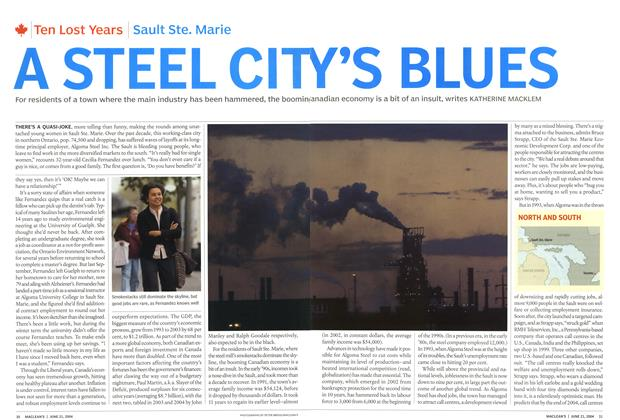Article Preview: A STEEL CITY'S BLUES, June 2004 | Maclean's