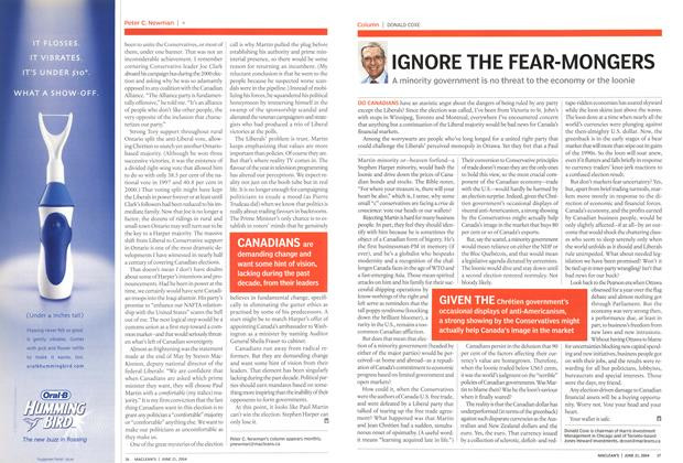 Article Preview: IGNORE THE FEAR-MONGERS, June 2004 | Maclean's
