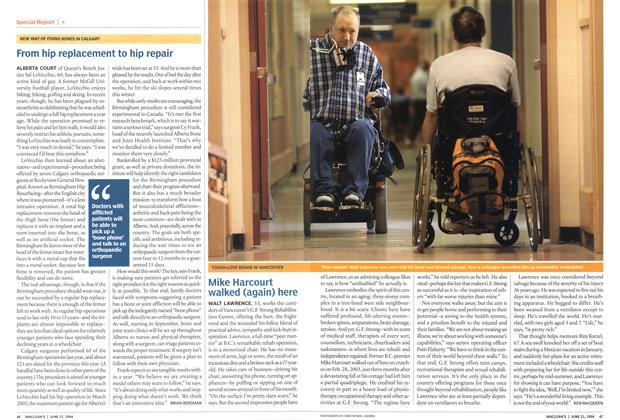 Article Preview: From hip replacement to hip repair, June 2004 | Maclean's