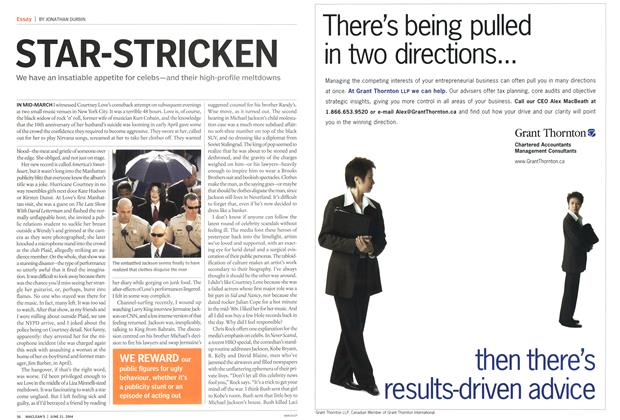 Article Preview: STAR-STRICKEN, June 2004 | Maclean's
