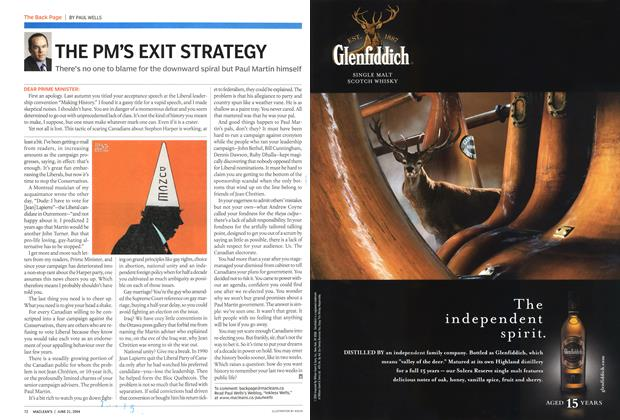 Article Preview: THE PM'S EXIT STRATEGY, June 2004 | Maclean's