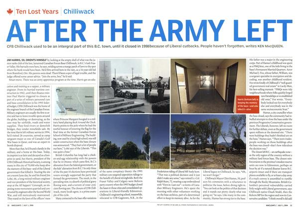 Article Preview: AFTER THE ARMY LEFT, July 2004 | Maclean's