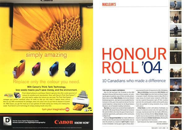 Article Preview: HONOUR ROLL '04, July 2004 | Maclean's