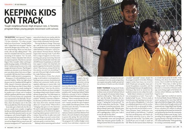 Article Preview: KEEPING KIDS ON TRACK, July 2004 | Maclean's