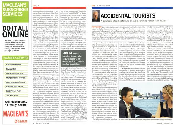 Article Preview: ACCIDENTAL TOURISTS, July 2004 | Maclean's