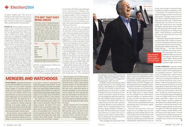 Article Preview: MERGERS AND WATCHDOGS, July 2004 | Maclean's