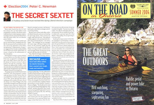 Article Preview: THE SECRET SEXTET, July 2004 | Maclean's