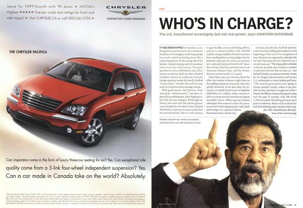 Article Preview: WHO'S IN CHARGE?, July 2004 | Maclean's