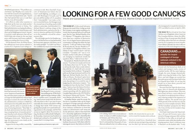 Article Preview: LOOKING FOR A FEW GOOD CANUCKS, July 2004 | Maclean's