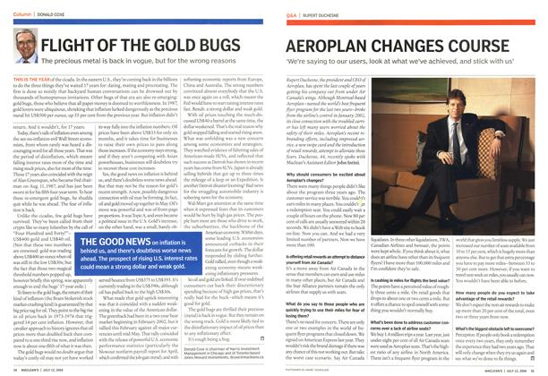 Article Preview: FLIGHT OF THE GOLD BUGS, July 2004 | Maclean's
