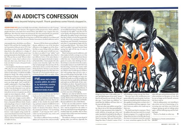Article Preview: AN ADDICT'S CONFESSION, July 2004 | Maclean's