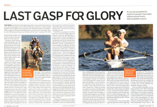 Article Preview: LAST GASP FOR GLORY, July 2004 | Maclean's