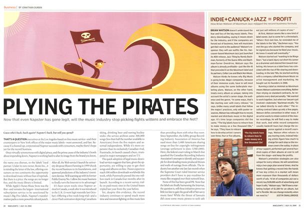 Article Preview: PLYING THE PIRATES, July 2004 | Maclean's