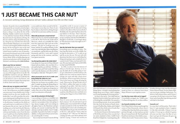 Article Preview: 'I JUST BECAME THIS CAR NUT', July 2004 | Maclean's