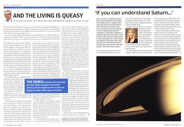 Article Preview: AND THE LIVING IS QUEASY, July 2004 | Maclean's