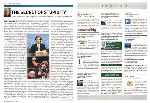 Article Preview: THE SECRET OF STUPIDITY, July 2004 | Maclean's