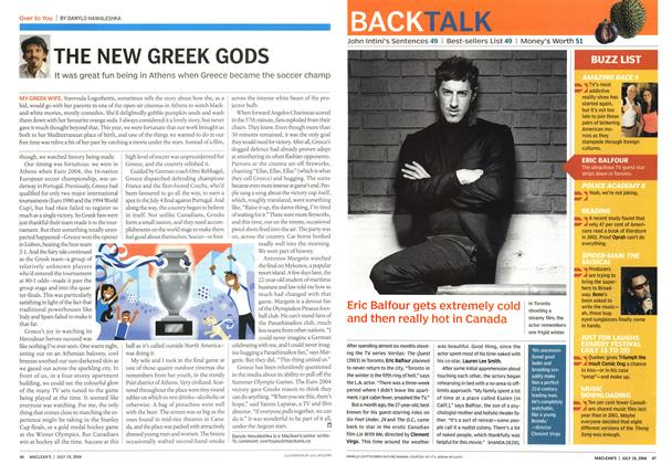 Article Preview: THE NEW GREEK GODS, July 2004 | Maclean's