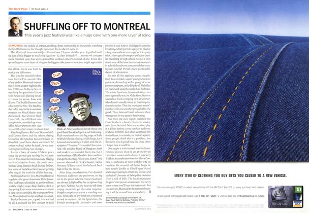 Article Preview: SHUFFLING OFF TO MONTREAL, July 2004 | Maclean's