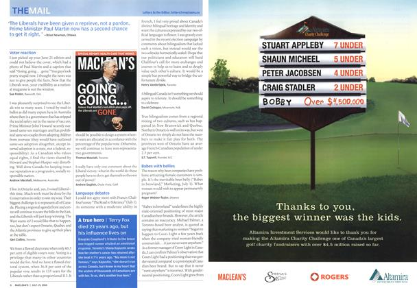 Article Preview: THEMAIL, July 2004 | Maclean's