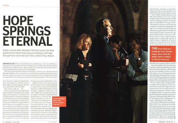 Article Preview: HOPE SPRINGS ETERNAL, July 2004 | Maclean's