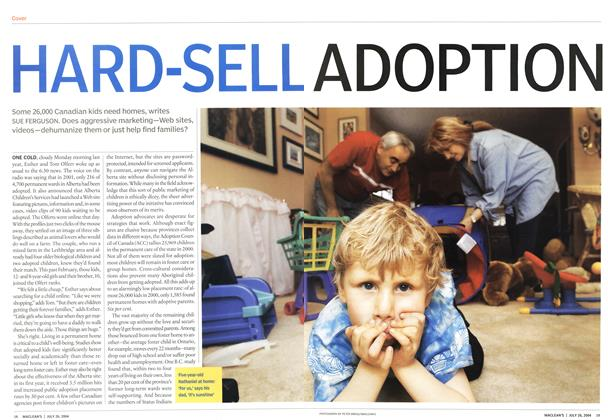 Article Preview: HARD-SELL ADOPTION, July 2004 | Maclean's