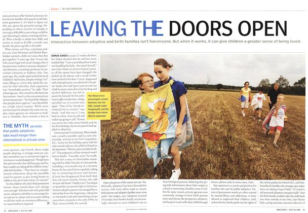Article Preview: LEAVING THE DOORS OPEN, July 2004 | Maclean's