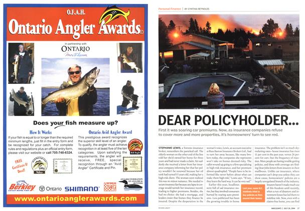 Article Preview: DEAR POLICYHOLDER..., July 2004 | Maclean's