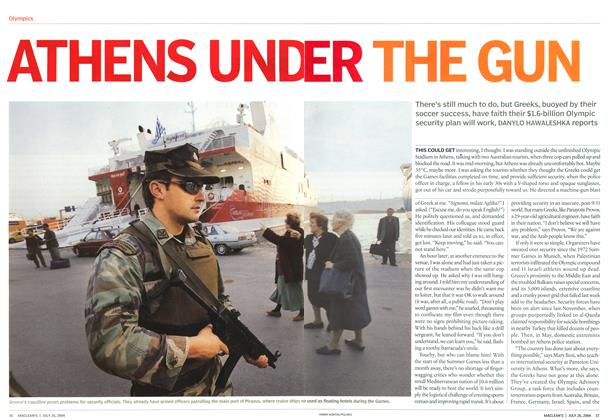 Article Preview: ATHENS UNDER THE GUN, July 2004 | Maclean's