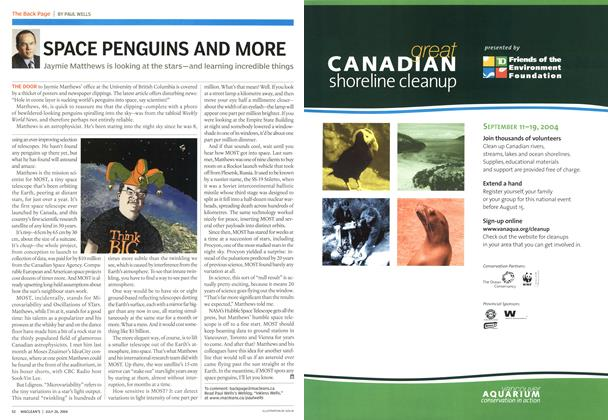 Article Preview: SPACE PENGUINS AND MORE, July 2004 | Maclean's