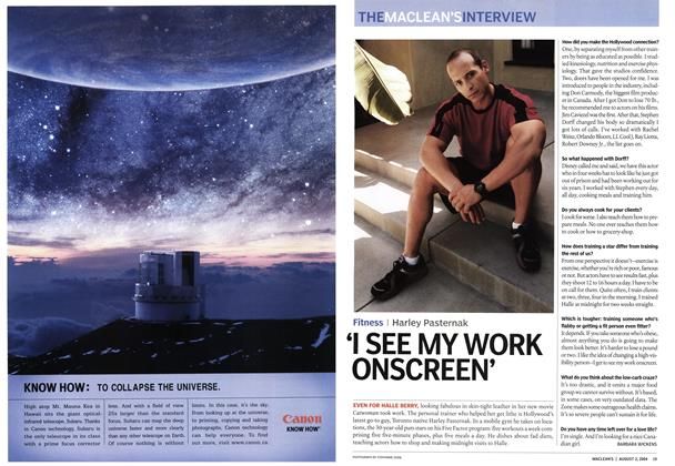 Article Preview: 'I SEE MY WORK ONSCREEN', August 2004 | Maclean's