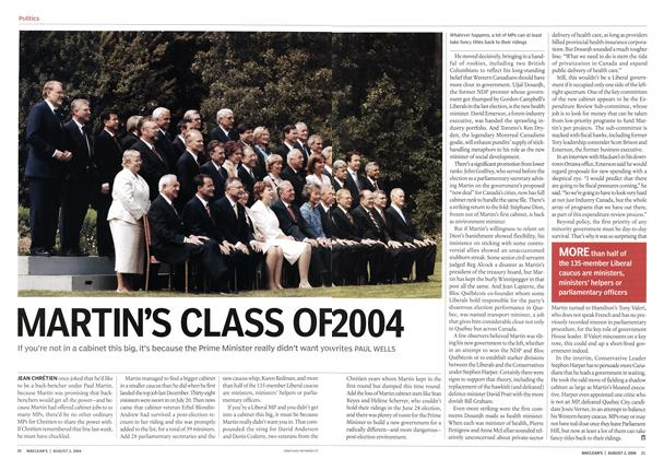 Article Preview: MARTIN'S CLASS OF 2004, August 2004 | Maclean's
