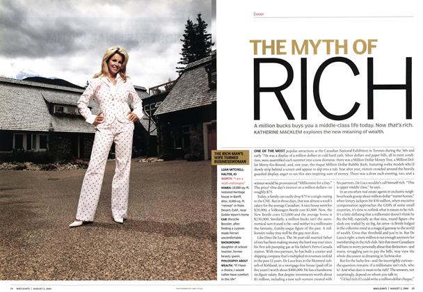 Article Preview: THE MYTH OF RICH, August 2004 | Maclean's