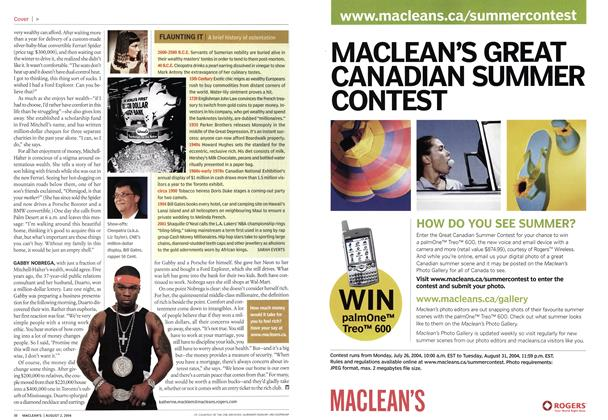 Article Preview: FLAUNTING IT, August 2004 | Maclean's