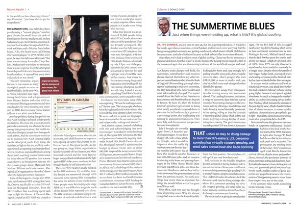 Article Preview: THE SUMMERTIME BLUES, August 2004 | Maclean's