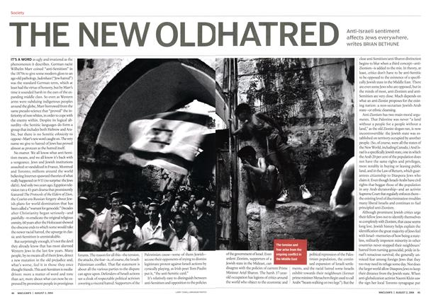 Article Preview: THE NEW OLD HATRED, August 2004 | Maclean's