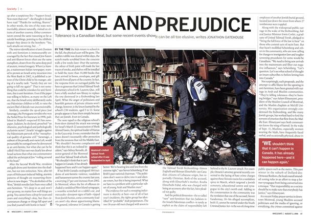 Article Preview: PRIDE AND PREJUDICE, August 2004 | Maclean's