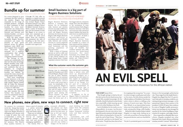 Article Preview: AN EVIL SPELL, August 2004 | Maclean's