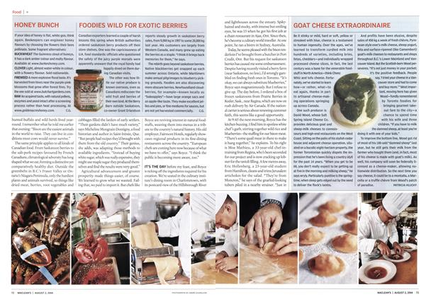 Article Preview: GOAT CHEESE EXTRAORDINAIRE, August 2004 | Maclean's