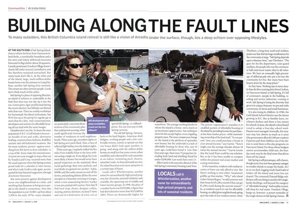 Article Preview: BUILDING ALONG THE FAULT LINES, August 2004 | Maclean's