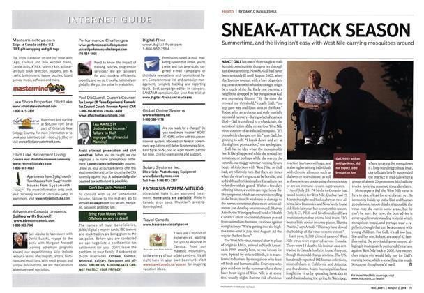 Article Preview: SNEAK-ATTACK SEASON, August 2004 | Maclean's
