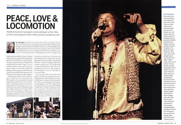 Article Preview: PEACE, LOVE & LOCOMOTION, August 2004 | Maclean's