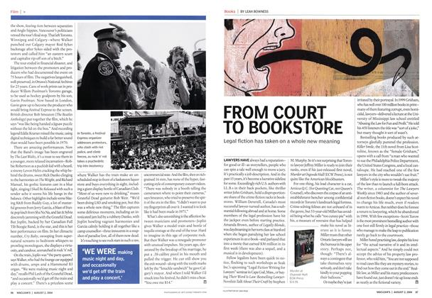 Article Preview: FROM COURT TO BOOKSTORE, August 2004 | Maclean's