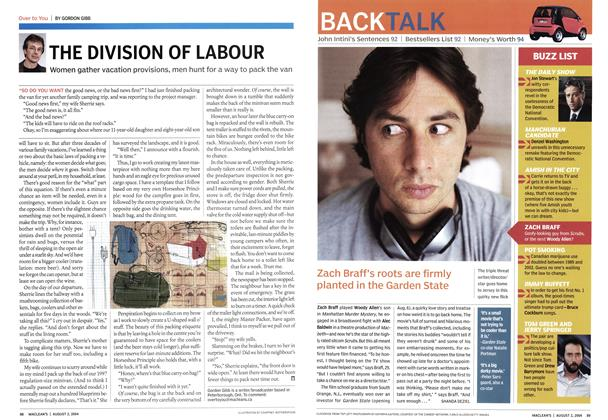 Article Preview: THE DIVISION OF LABOUR, August 2004 | Maclean's