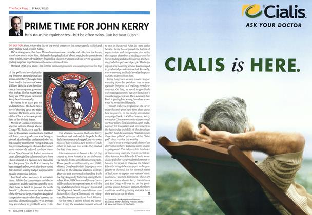 Article Preview: PRIME TIME FOR JOHN KERRY, August 2004 | Maclean's