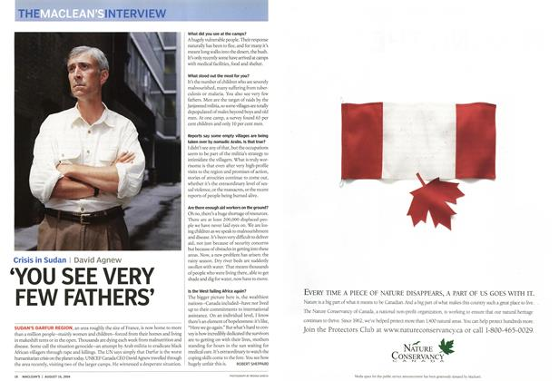 Article Preview: 'YOU SEE VERY FEW FATHERS', August 2004 | Maclean's