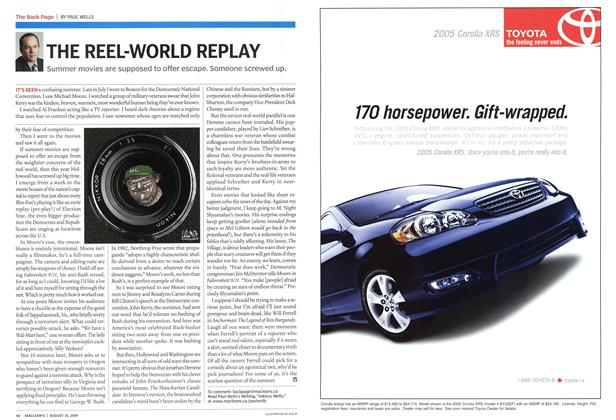 Article Preview: THE REEL-WORLD REPLAY, August 2004 | Maclean's