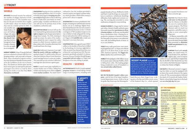 Article Preview: DESERT PLAGUE, August 2004   Maclean's